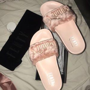 Fenty light pink slides